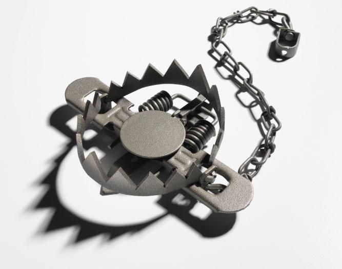 hinge-trap